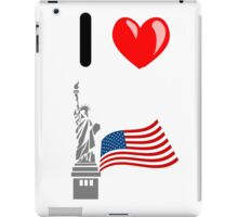 I LOVE USA (NEW YORK) iPad Case/Skin