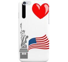 I LOVE USA (NEW YORK) iPhone Case/Skin