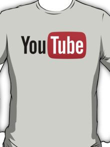 YouTube Full Logo - Red on White T-Shirt
