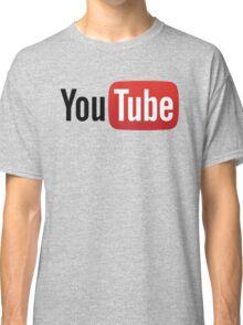 YouTube Full Logo - Red on White Classic T-Shirt