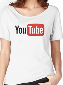 YouTube Full Logo - Red on White Women's Relaxed Fit T-Shirt
