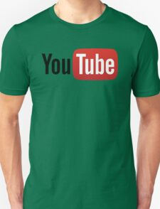 YouTube Full Logo - Red on White Unisex T-Shirt