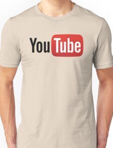 YouTube Full Logo - Red on White Unisex T-Shirt
