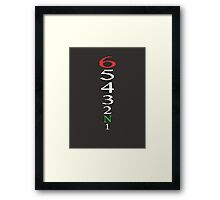 1 Down 5 up ! Framed Print