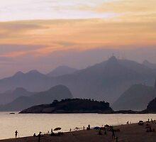 Sunset view of Rio de Janeiro by Frans Harren