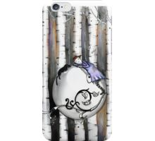 Sleeping with the birch iPhone Case/Skin