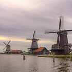 Three Mills - Zaanse Schans by Frans Harren