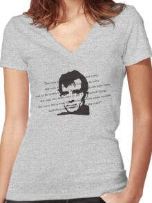 THE MAD ONES Women's Fitted V-Neck T-Shirt