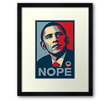 Obama Nope Framed Print