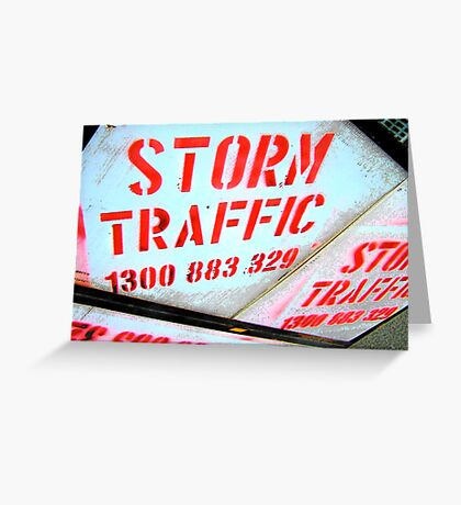 Traffic Ceases Greeting Card