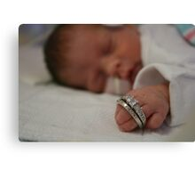 Mommy's Rings Canvas Print