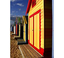 Colorfull Huts Photographic Print