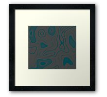 Teal and Gray Framed Print