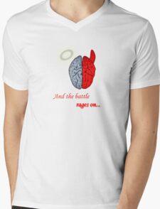 Mind Battle Tee Mens V-Neck T-Shirt