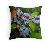Purple Oregon Grapes Throw Pillow