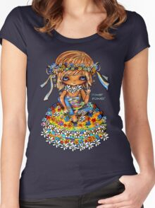 Flower Power TShirt Women's Fitted Scoop T-Shirt