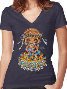 Flower Power TShirt Women's Fitted V-Neck T-Shirt