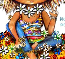 Flower Power TShirt Sticker
