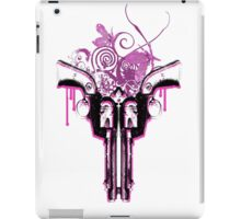 Dual Guns (white) iPad Case/Skin