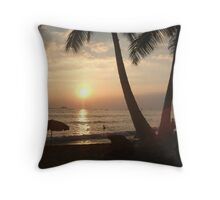 Sunset in Waikiki Throw Pillow