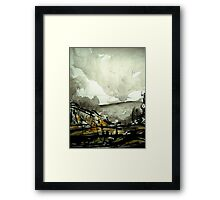 cloudy sky over Malham Cove revisited Framed Print