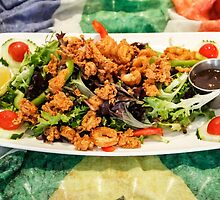 Calamari Salad with Peri Peri Sauce by Heather Friedman