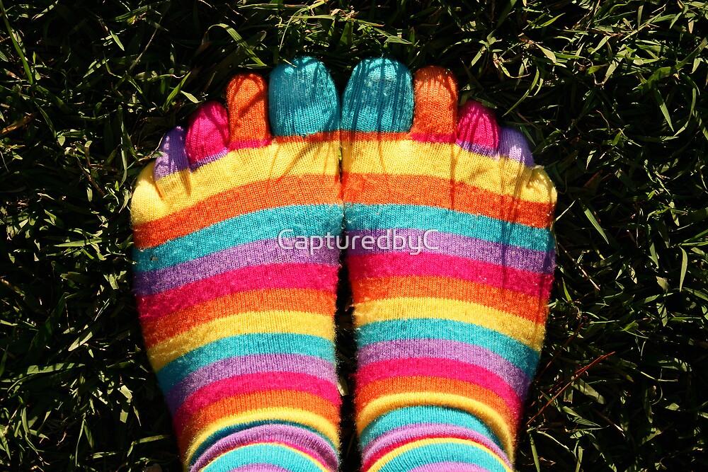 Stripey socks by CapturedbyC