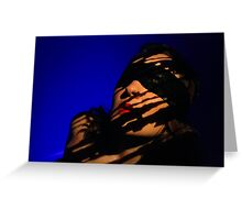 blindfold Greeting Card