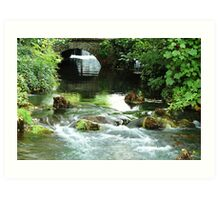 Cheddar Gorge river Art Print