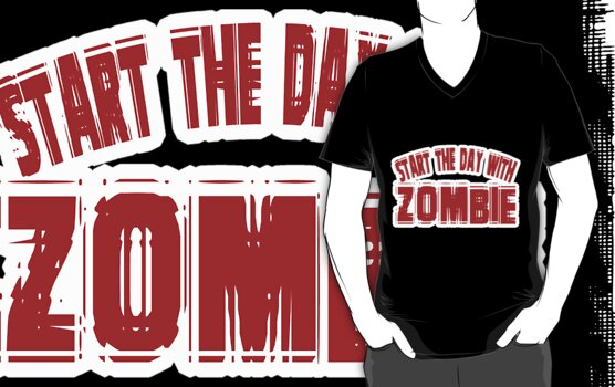 Zombie t-shirt by valizi