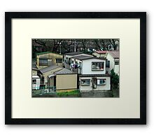 Typical Japanese Suburbia. Framed Print
