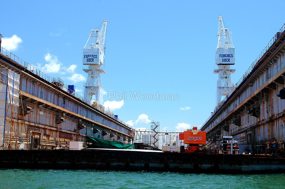 Forjac's Floating Dock - Newcastle Harbour by Phil Woodman