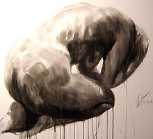 Clutching Crouching Figure 4 by Josh Bowe