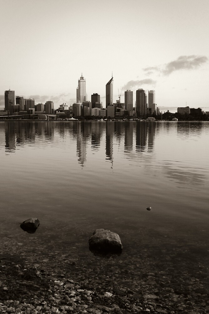 Perth City Skyline in Duotone by Martin Pot