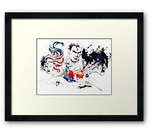 Justice League Splash Art Framed Print