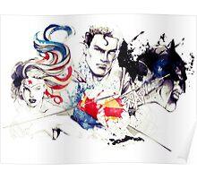 Justice League Splash Art Poster