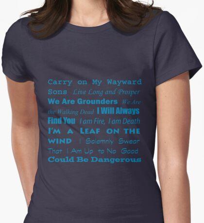 Multi Fandom Anthem Womens Fitted T-Shirt