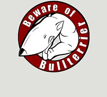 Beware of the Bull Terrier! Womens Fitted T-Shirt