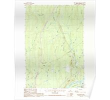 Maine USGS Historical Map Nine Meadow Ridge 102813 1988 24000 Poster