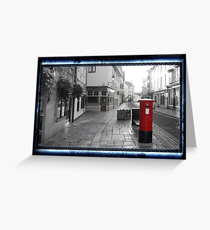 Time Travel Postbox Greeting Card