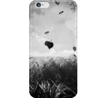 Autumn leaves Black & White iPhone Case/Skin