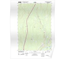 Maine USGS Historical Map Nine Meadow Ridge 20110902 TM Poster