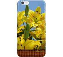 Yellow Lilies Sky High iPhone Case/Skin