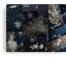 Macro Snowflakes 2 Canvas Print