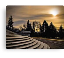 November Sunset over the Legislature Canvas Print