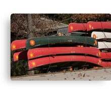 Canoes Waiting Canvas Print