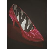 neovibe.us | zebra red shoe Photographic Print