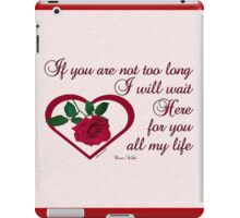 Forever My Love iPad Case/Skin