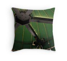 Green Tent Throw Pillow