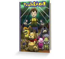 Poohkemon Greeting Card